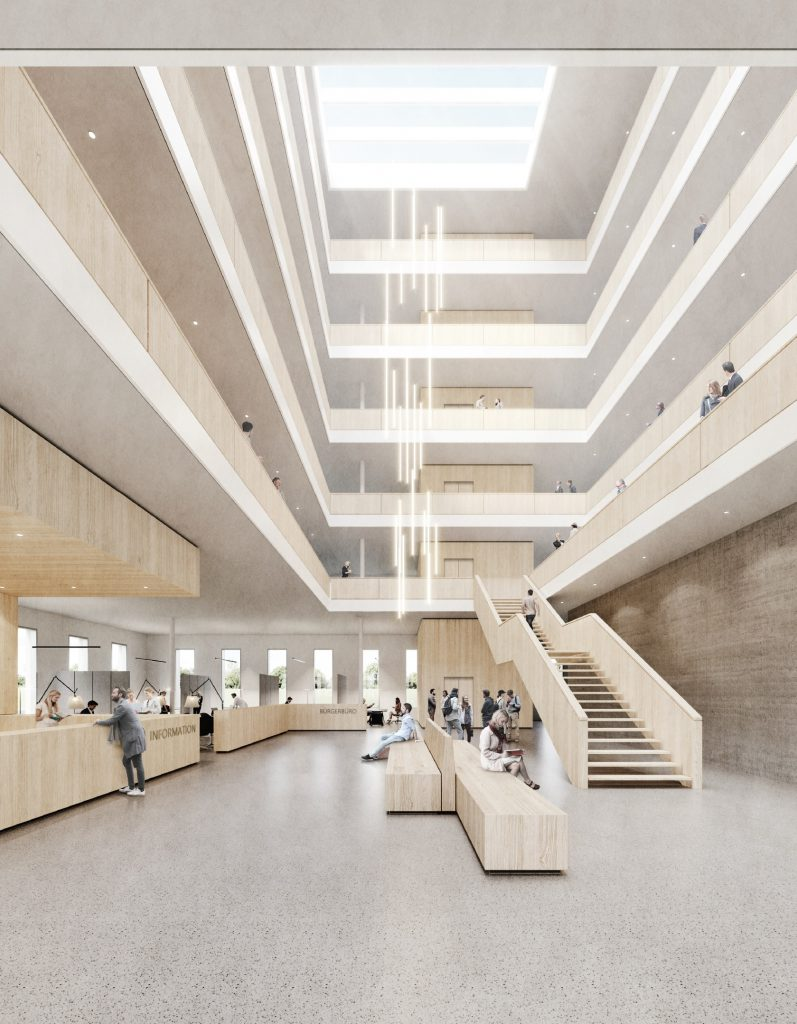 Rendering Foyer Stadthaus