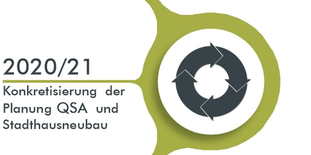 2020/21 Konkretisierung der Planung QSA und Stadthausneubau